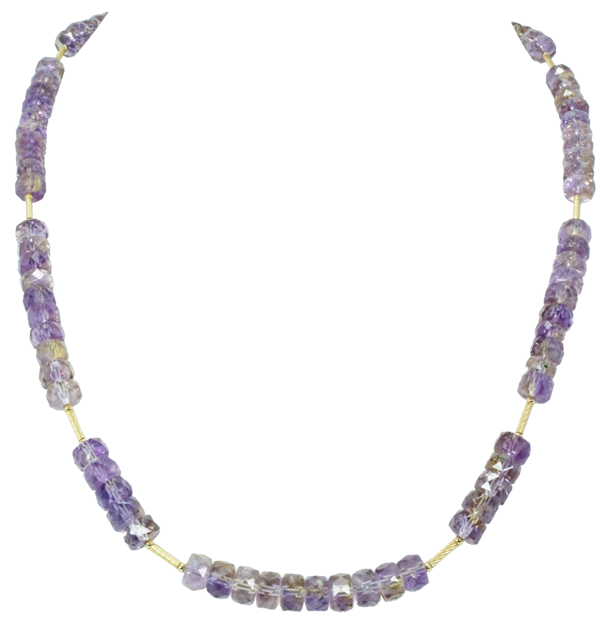 Ametrine Rondelle & Gold-Filled Accent Necklace
