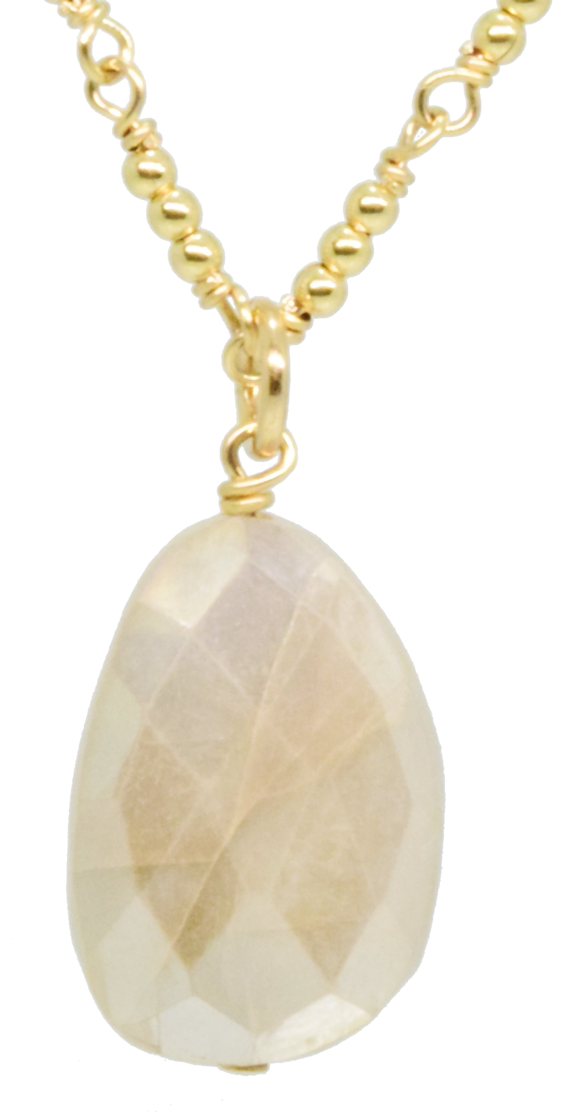 Faceted Moonstone Slab Pendant