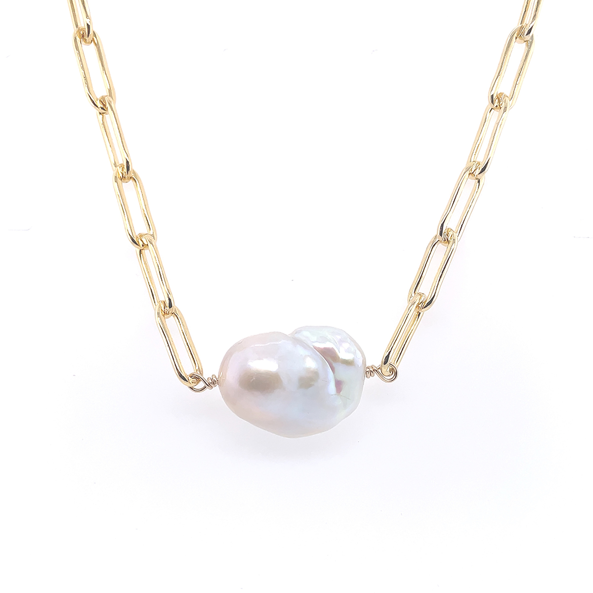 Large East-West Keishi Pearl Necklace
