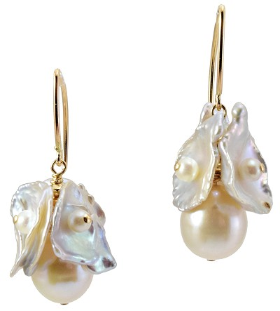 Pearl Chip & Potato Pearl Earrings