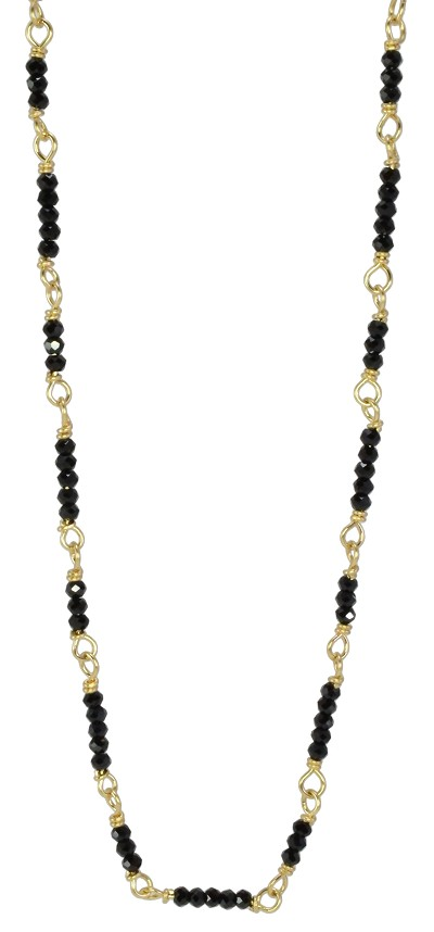 Black Spinel Chain Necklace 18'