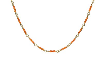 Carnelian Chain in Gold-Filled